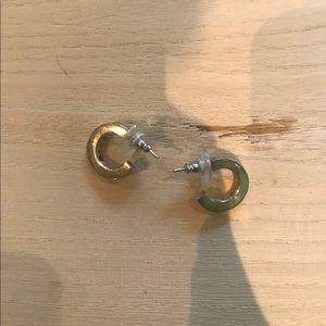Silver small hoop earrings